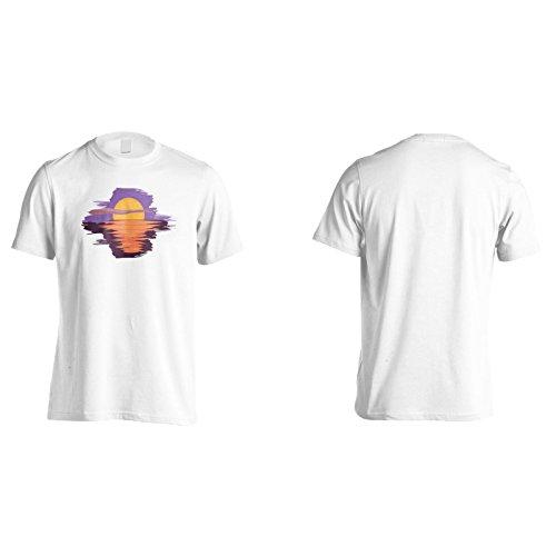 Sonnenuntergang Über Wasser Herren T-Shirt n999m