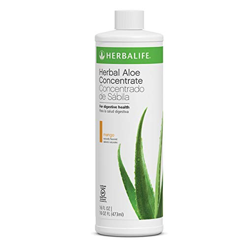 Aloe Vera Herbal Concentrate in Mango Flavor Pint 16 FL OZ Supports Healthy ()