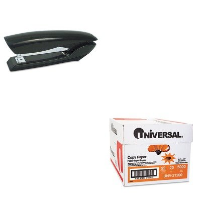 KITBOSB326BLKUNV21200 - Value Kit - Stanley Bostitch Antimicrobial Full Strip Stapler (BOSB326BLK) and Universal Copy Paper (UNV21200)