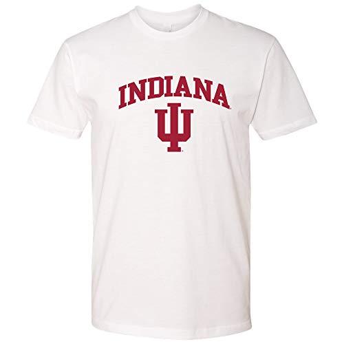 AS03NL - Indiana Hoosiers Arch Logo T-Shirt Premium Cotton - Medium - White