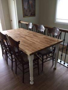 Osborne Wood Products - Farm Dining Table Legs in Knotty Pine (Set of 4) - Versatile Farm Style - Overall Dimensions: 29…
