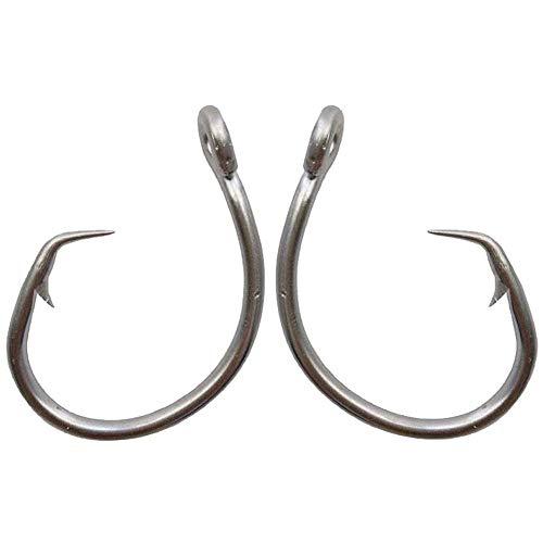 AGOOL Tuna Circle Fishing Hook 39960 Stainless Steel Saltwater Fish Hook 20pcs per Pack (12/0,Pack of 20) ()