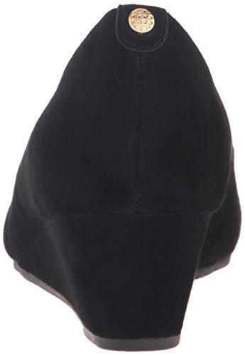 CLARKS Women's Vendra Bloom Wedge Pump Black Suede cheap sale marketable EmiyTZqk