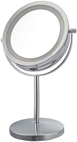 ZCXBHD 化粧バニティドレッシングテーブルミラー、LEDライト360°回転3x HD拡大鏡 (Color : C)