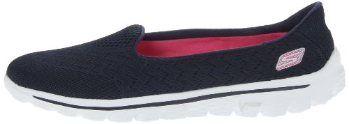 Skechers Performance Women's Go Walk 2 Axis Slip-On Walking Shoe,Navy/Pink,10 M US