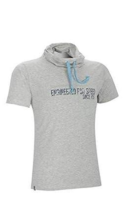Kawasaki Camiseta Collar Largo Gris: Amazon.es: Ropa y accesorios