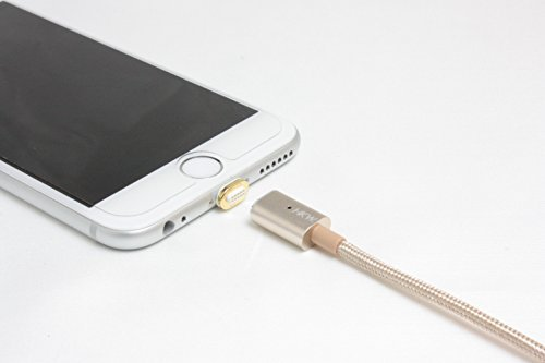 HKW Magnetic Lightning Charging Cable 4Ft/1.2m For iPhone (Gold) - Genuine Product