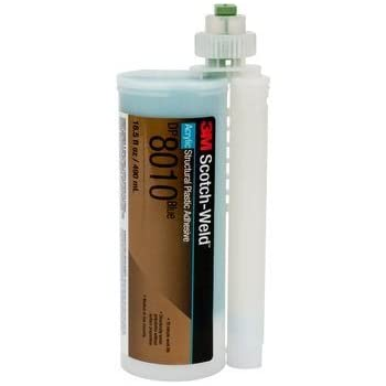 3M (DP8010) Structural Plastic Adhesive DP8010 Blue, 45 mL [You are purchasing the Min order quantity which is 12 Each]
