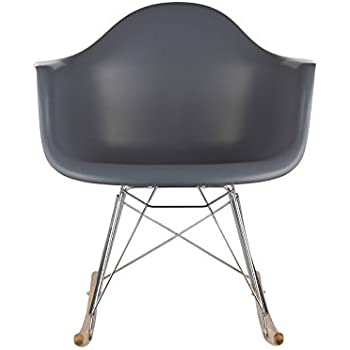 Poly and Bark Rocker Lounge Chair, Grey