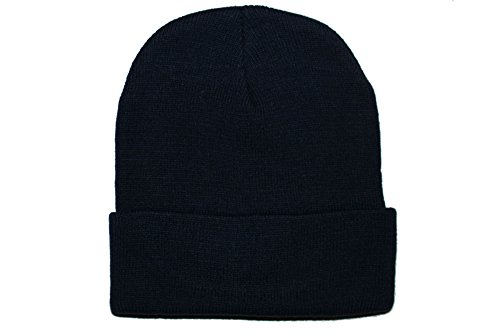Courage Base Winter Beanie For Men and Women Skull Cap, Cuffed Knit Hat, Skull Beanie Hat (Black) (Cuffed Knit Beanie Cap)