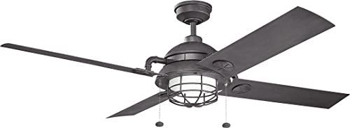Hunter Fan Company Hunter 53069 Traditional 52 Ceiling Fan from Low Profile III collection in White finish