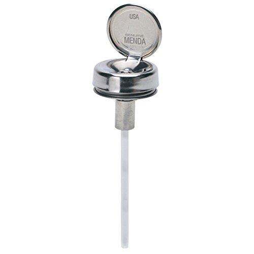 MENDA 35301 Steel/Low-Density Polyethylene/LDPE One-Touch Liquid Dispenser Pump, 4 oz. Stem, Silver (Pump Menda)