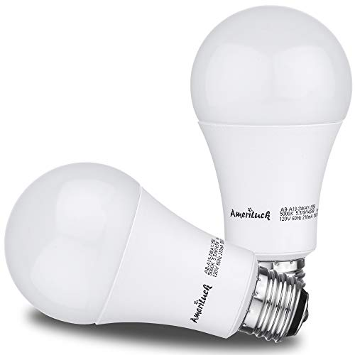 AmeriLuck 5000K Daylight 3-Way LED Light Bulb A19, 40-60-100