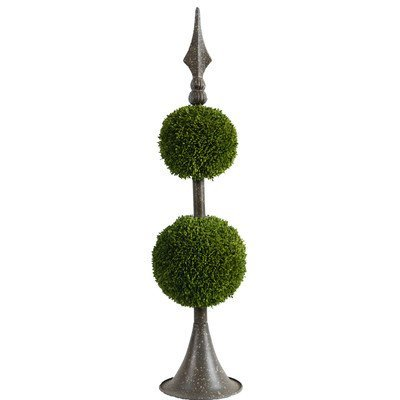 A&B Home Boxwood Ball Topiary with Metal Finial Stand, 26-Inch A& B Home 35412