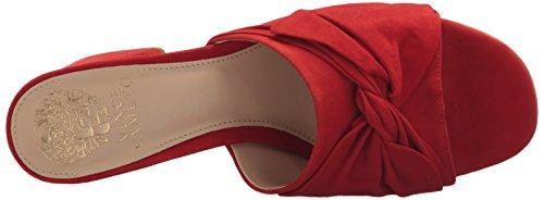 Vince Camuto Women's Sharrey Slide Sandal, Black Red Hot Rio
