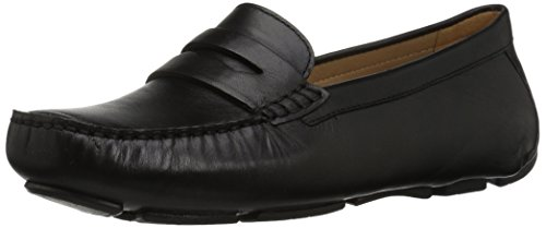 Classic Leather Penny Loafers - Naturalizer Women's Natasha Driving Style Loafer, Black, 7 M US
