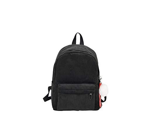 Rainie002 2019 Women Backpack Pure Color Women Travel Bag Fashion Double Backpack Female Bags,B Black,40X29X14 Cm (Best Golf Swing Training Aids 2019)