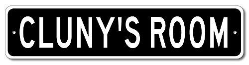 Cluny Accent (CLUNY'S ROOM - Kids room sign, Cluny Room Aluminum door sign for Boys - 9