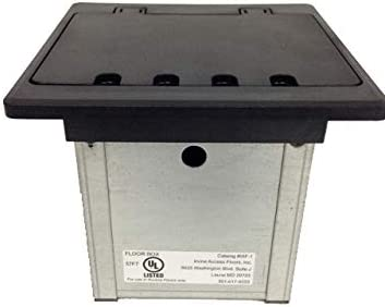 Compacto In-Floor two-gang Caja electrica con tapa: Amazon.es ...