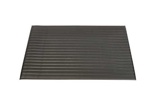 Genuine Joe Anti-Fatigue Mat, Beveled Edge, 2 by 3-Feet, Black