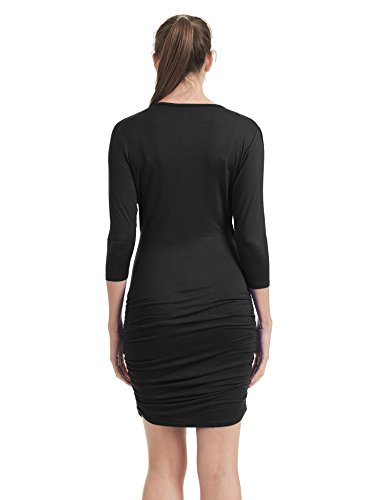 Made Together 4 Sleeve Shirring with Womens 3 Side California Come USA Wdr1384 Dress in black vSaxwCxd