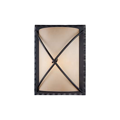 Minka Lavery 72001-A138-PL Aspen II Outdoor Energy Efficient Wall Light Exterior Pocket Sconce Lantern, 1-Light, 13 Watt Fluorescent, Bronze ()