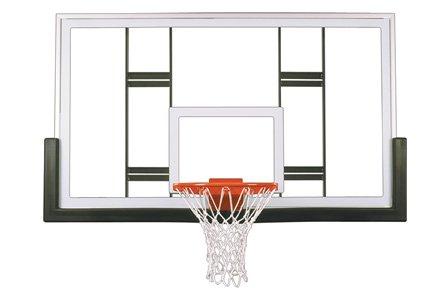 最初チームContenderアップグレードパッケージsteel-glass Gymnasium backboard44 ;リム&パッドアップグレードpackage-ケリーグリーン B01HC0CBIO