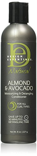 Design Essentials Natural Moisturizing & Super Detangling Sulfate-Free Conditioner with Natural Shea Butter and Coconut Milk-Almond & Avocado Collection, 8oz. (Best Moisturizer For Dry Relaxed Hair)