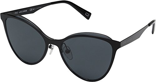 Marc Jacobs Women's Cat Eye Sunglasses, Black/Grey Blue, One - Jacobs Marc Cat Sunglasses Eye