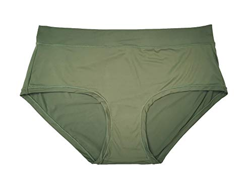 Lacy Studio Women Hipster Panties Soft Stretch Underwear High Waist Full Coverage Brief Panty Multipack (Camo Green (1pc), - Green Hipster Panty