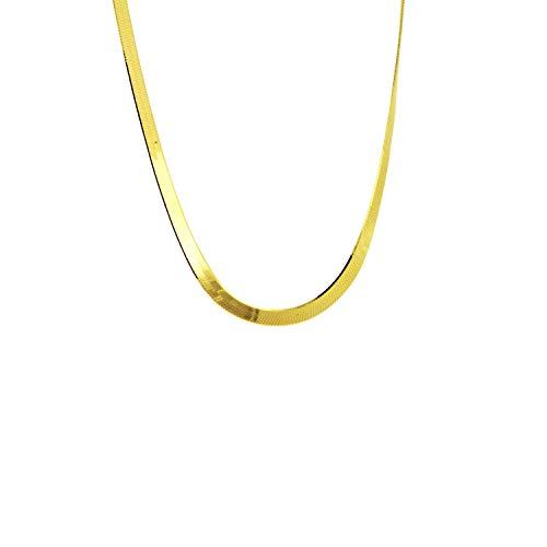 apop nyc Goldtone 925 Silver Modern Herringbone Necklace 16 inch