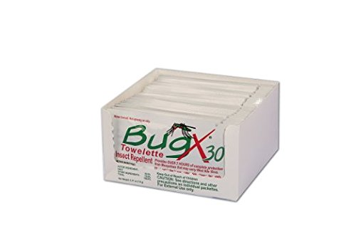 Bug X Insect Repellent Towelette Foil Pack, 25 Per Pack ()
