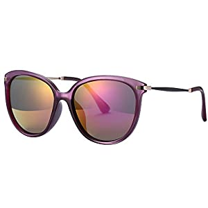 Women's Sunglasses UV Protection Polarized sunglasses for Women Goggles UV400 (Purple, As pictures)