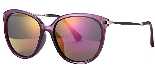 Women's Sunglasses UV Protection Polarized sunglasses for Women Goggles UV400 (Purple, As - Lady Sunglasses With