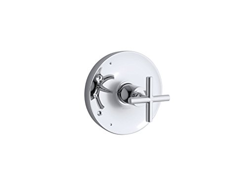 KOHLER TS14423-3-CP Purist(R) Rite-Temp(R) valve trim with cross ()