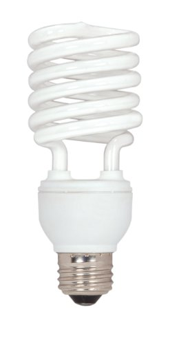 120v T4 Medium Screw - Satco S7231 26-Watt Medium Base T2 Mini Spiral, 2700K, 120V, Equivalent to 100-Watt Incandescent Lamp for Enclosed Fixtures