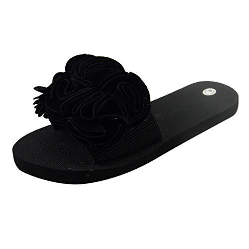 Women Butterfly Platform Flip Flops Bohemian Summer Beach Thick Bottom Anti-Slip Thong Wedge Sandals Black