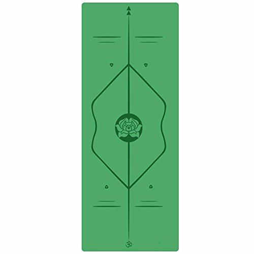 SJQKA-Professional Yoga Mat, Natural Rubber Anti-Skid Yoga Mat, Widening Thickening Men And Women Fitness Pad,Green by SJQKA-yoga mat