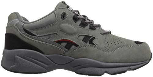nbsp;stabilità Da Scarpe Grey Nubuck Sneakers Pelle Walker Uomo Black Propét M2034 5wWcqIgOIF