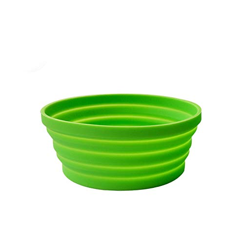 Ecoart Silicone Expandable Collapsible Bowl for Travel Camping Hiking, Green (1 Pack)