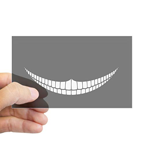 CafePress Cheshire Grin Rectangle Bumper Sticker Car Decal]()