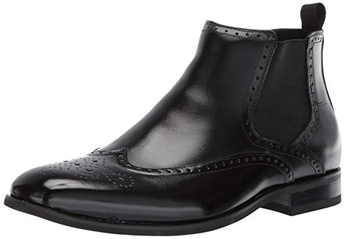(STACY ADAMS Men's Iverson Wingtip Chelsea Boot, Black, 10 M US)