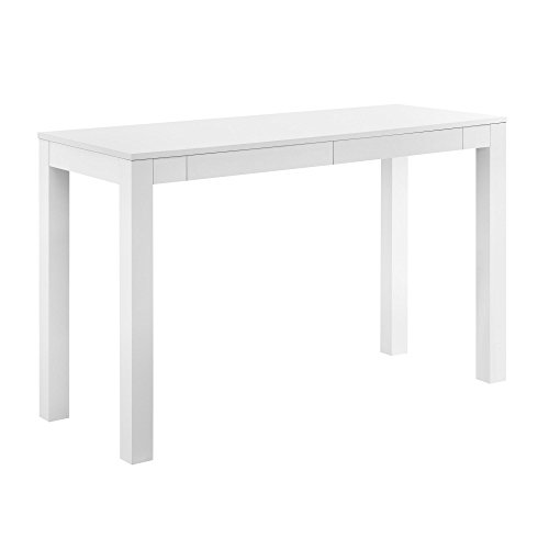Altra Furniture Parsons Xl Desk with 2 Drawers, White