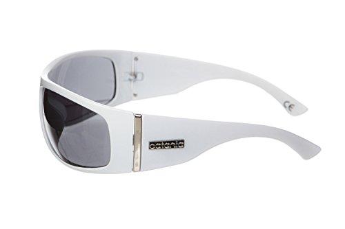Blanco UVB Catania Vintage de UVA de UV400 Sol Occhiali Modelo Mujer Cristales Gafas qORZA