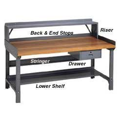 (Edsal ST72 15 Gauge Steel Work Bench Stringer, 72