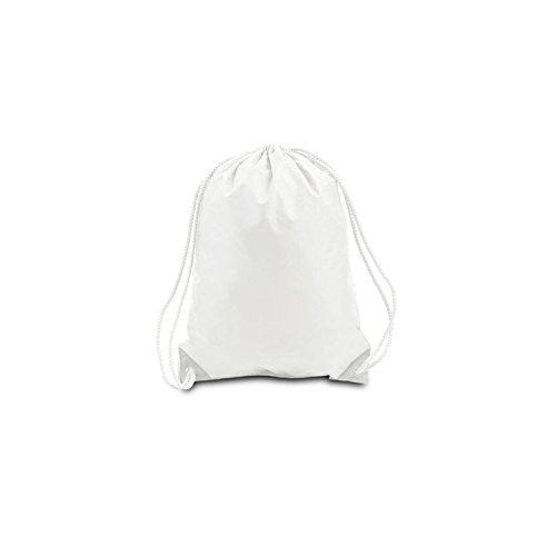 [PACK OF 25] Bulk Polyester Drawstring Bags, Wholesale Cinch Bags, Quality Sack Packs (Medium (15