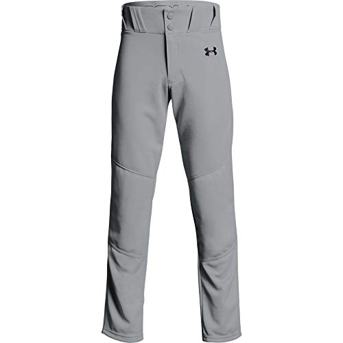 Under Armour Boys Utility Relaxed Baseball Pant, Baseball Gray (080)/Black, Youth Medium (Ua Cleats Youth Baseball)