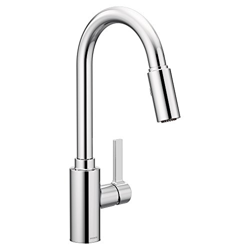 Moen 7882 Genta One-Handle High Arc Pulldown Kitchen Faucet Featuring Reflex, Chrome -