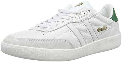 Gola Men's Inca Leather White/White/Green 8 D US D ()