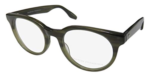 Barton Perreira Royston Mens/Womens Designer Full-Rim Shape Fabulous Modern Sleek Eyeglasses/Eye Glasses (49-21-148, Olive) (Brillen Made In Japan)